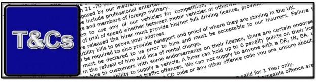 Supervan Ltd Brentwood terms and conditions T&Cs car hire van hire