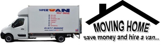 Supervan Ltd hire a van to move home moving house hire a van