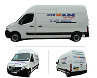 Master (LWB - High Top) Van Hire Brentwood